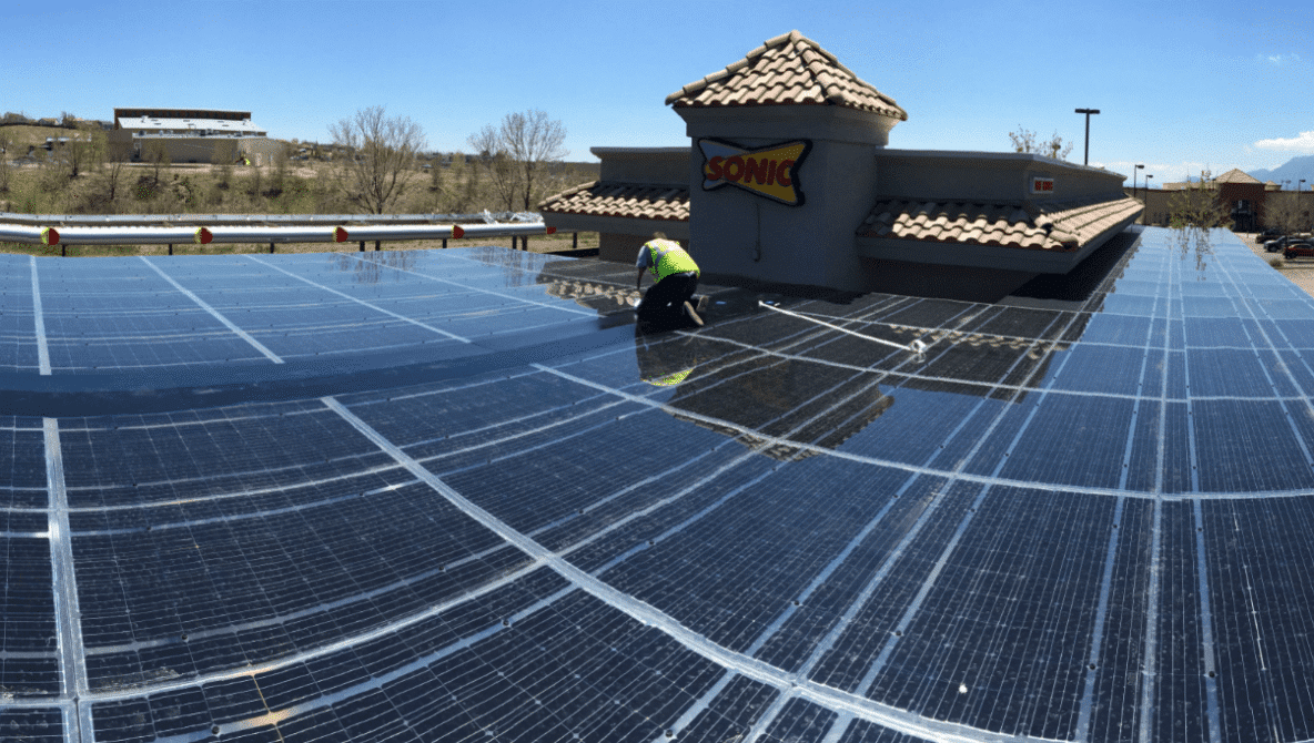 33.8 KW Solar Panel System for Sonic Drive-In in CO